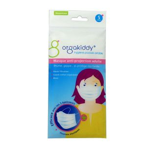 Orgakiddy Masque anti-projection adulte (Sachet de 5)