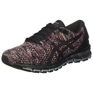 Asics Gel-Quantum 360 Knit 2, Chaussures de Running Homme, Noir (Black/Classic Red/Stone Grey 9023), 40.5 EU