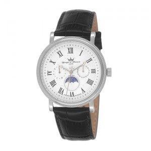 Yonger & bresson HCC 1685 - Montre pour homme avec bracelet en cuir