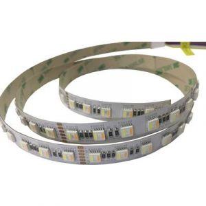 Tru Components Ruban LED avec câble à extrémités ouvertes RGBCCT-1M-60-IP54-12V 12 V 100 cm 5 couleurs, RVB, RVBB, blanc