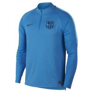 Nike Haut de football à manches longues FC Barcelona Dri-FIT Squad Drill pour Homme - Bleu - Taille XL