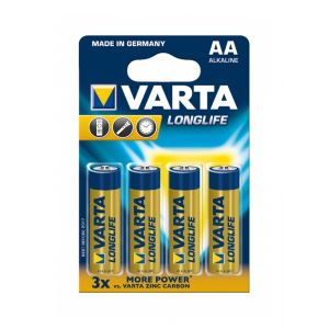 Varta 4 piles alcalines Longlife Extra LR06 - AA
