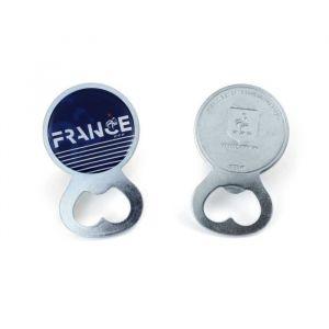 FFF Décapsuleur - Décapsuleur FFF - Métal - Bleu - Coq - Pour montrer votre soutien à l'équipe de France de football.