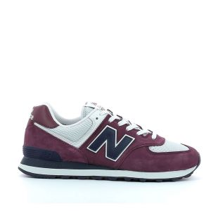 New Balance Baskets basses 574 rouge - Taille 37,38,40,42,43,44,45,40 1/2,42 1/2,46 1/2,38 1/2,41 1/2,44 1/2,45 1/2,39 1/2
