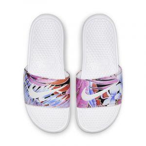 Nike Claquette Benassi JDI Floral pour Femme - Blanc - Taille 38 - Female