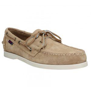 Sebago Portland Docksides Suede C - Chaussures à lacets Homme, Beige