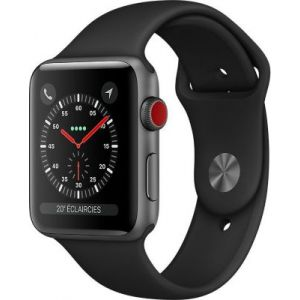 Apple Watch Series 3 + Cellular - 42mm - Alu Gris/Noir