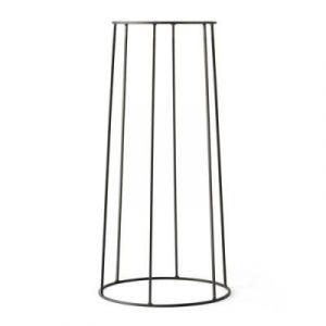 Menu Support / H 60 cm - Pour pot et lampe à huile Wire noir en métal