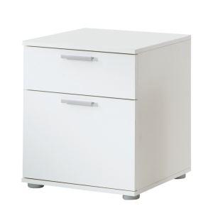 Chevet Jack 3 avec 1 tiroir petit et un tiroir grand en MDF