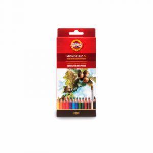 Koh-I-Noor Mondeluz Fruit Crayons de Couleur Aquarelle (Set de 24)