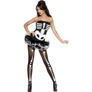 Déguisement squelette sexy Halloween (taille S)