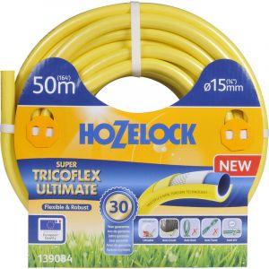 Alfaflex Tuyau Super Tricoflex jaune 12 bar Ø 15 mm x 50 m : Hozelock 139084