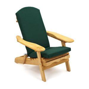 Trueshopping Coussin pour fauteuil d'extérieur 'Adirondack' en vert fonce (Coussin Seulement)