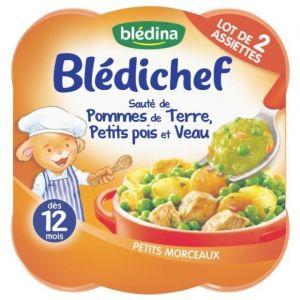 Blédina Bledichef 2x230g sauté de pommes de terre, petits pois et veau dès 12 mois