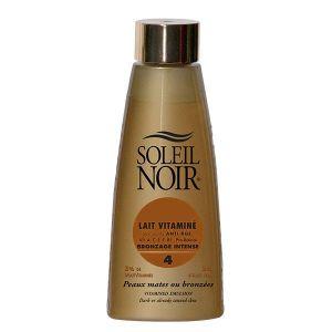 Soleil noir Lait vitaminé bronzage intense indice 4