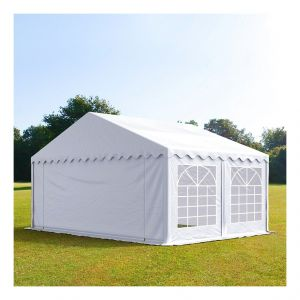 Intent24 Tente de réception 5 x 4 m PVC blanc