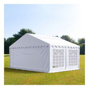 Intent24 Tente de réception 5 x 4 m PVC blanc