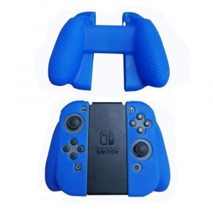 Straße Game Housse Silicone Manette de Protection pour Joy-Con de Nintendo Switch - Bleu