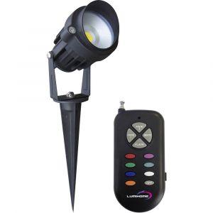 Lumihome Spot LED extérieur encastrable RGBW/GLP15 8 W noir
