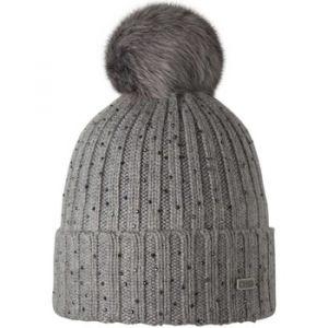 Barts Bonnet gris perle pompon imitation fourrure Modèle splendor j
