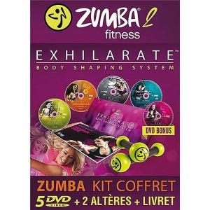 Zumba 2 Exhilarate : Body Shaping System - Kit 5 DVD + 2 haltères + 1 livret