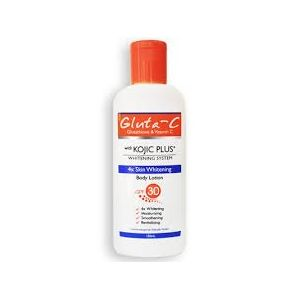 Gluta-C Kojic Acid Plus Glutathione 4x Skin Body Whitening Lotion Spf 30