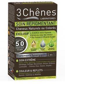 3 Chênes Soin repigmentant cheveux naturels ou colorés - 5.0 châtain clair