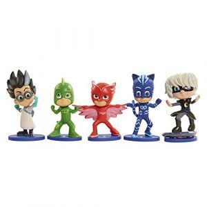 Bandai 5 figurines Pyjamasques coffret Héros et Vilains