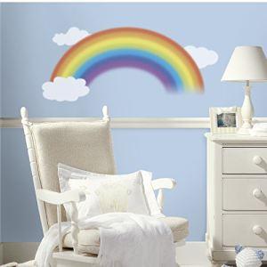ROOMMATES Sticker mural Arc en ciel pour enfant repositionnable