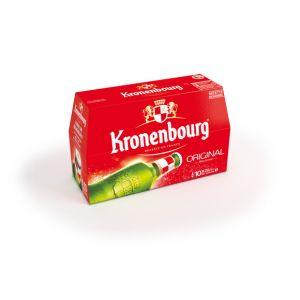 Kronenbourg Bière blonde, 4,2%vol. - Les 10 bouteilles de 25cl