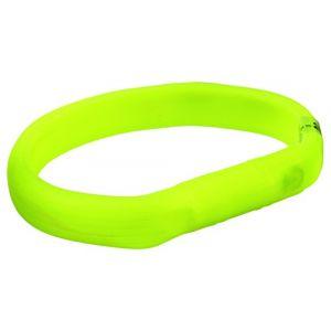 Trixie Flash anneau lumineux usb - L-XL: 70 cm/18 mm, vert