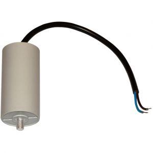 Aerzetix Condensateur permanent de travail pour moteur 18µF 450V avec câble 25cm précâblé