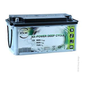 Nx Batterie plomb ouvert Power Deep Cycle 12V 98Ah C100 - Batterie(s)