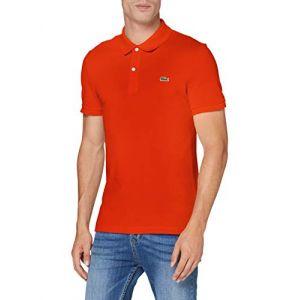 Lacoste Polo PH4012 Slim Fit Manches Courtes - Vêtements Accessoires, Rouge