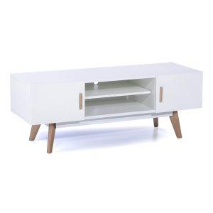 Meuble tv 120 cm blanc parer 1335 offres