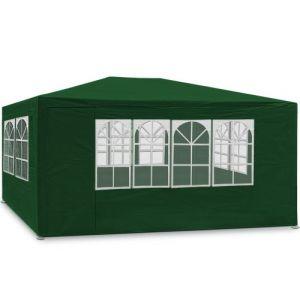Deuba Tonnelle Maui - 3x4m - Vert - Barnum revêtement imperméable - Pavillon Tente de jardin
