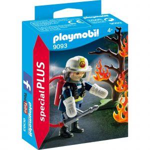 Playmobil 9093 - Special Plus : Pompier avec arbre en feu