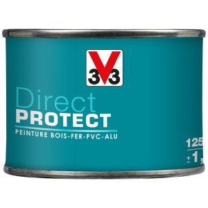 V33 Direct Protect satin noir 125 ml - Peinture extérieure multi-matériaux