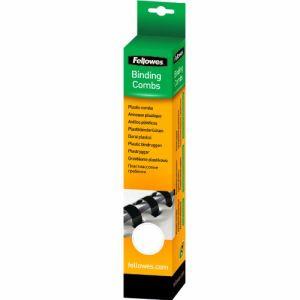 Fellowes 100 reliures à anneaux plastiques pour format A4 (diamètre 8 mm)