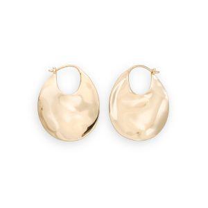 Rosefield Boucles d'oreilles JTXHG-J090 - Collection IGGY Anneaux à Relief doré jaune Laiton