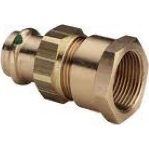 Viega 222017 - Raccord union en bronze à sertir femelle-femelle taraudé diamètre 54-50 x 60 modèle 2262