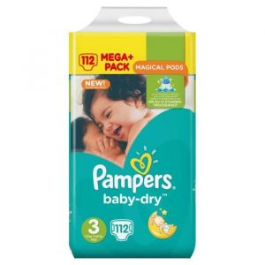 Pampers Baby Dry taille 3 - 112 couches