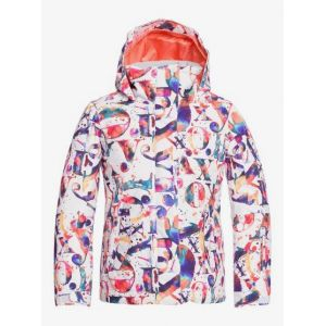 Roxy Jetty-Veste de Snow pour Fille 8-16 Ski, Bright White Magic Carpet, FR : L (Taille Fabricant : 12/L)