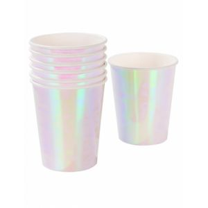 Talking Tables PASTEL-CUP-IR Tasse avec Finition iridescente Papier Carton Multicolore 17,4 x 7,5 x 17,4 cm