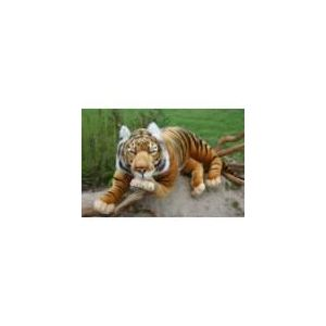 Anima Peluche Tigre brun couché 150 cm
