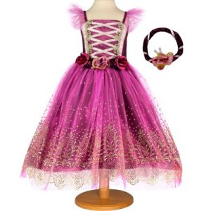 Travis Designs Robe de princesse Plum violette (3-5 ans)