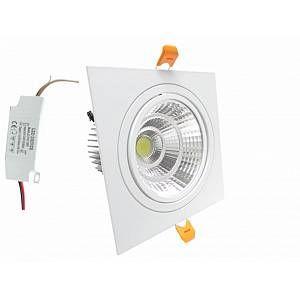 Silamp Downlight Spot LED COB Carré Orientable 24W - couleur eclairage : Blanc Neutre 4000K - 5500K