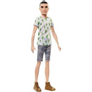 Mattel Ken Fashionistas - Chignon - T-shirt cactus et Bermuda Jean