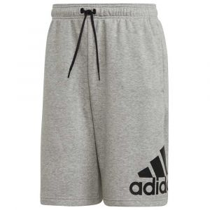 Adidas Short Must Haves Badge of Sport Gris / Blanc - Taille XL