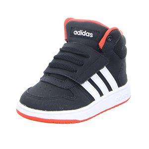 Adidas Hoops Mid 2.0 I, Sneakers Basses bébé garçon, Multicolore (Cblack/Ftwwht/Hirere B75945), 26 EU